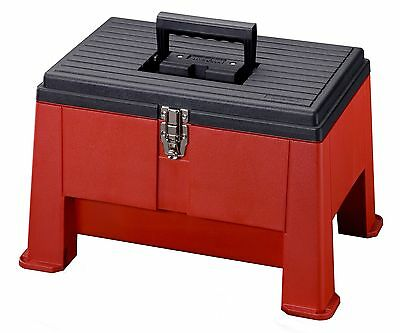 Stack-On SSR-20 Step 'N Stor Step Stool (Black/Red) , Free Shipping