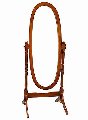 Frenchi Home Furnishing Oak Cheval Mirror Adjustable Full-Len... , Free Shipping