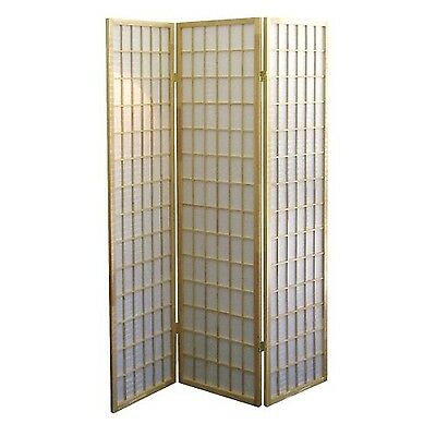 ORE International R531 3-Panel Room Divider Natural White , Free Shipping