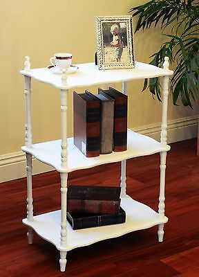 Frenchi Home Furnishing JW109A-WH 3-Tier Shelves White , Free Shipping