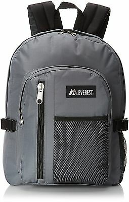 Everest Backpack with Front Mesh Pocket Dark Gray One Size , Free Shipping