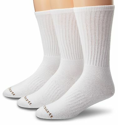 Carhartt Men's Work Wear Cushioned Crew Sock 3-Pack White Large , Free Shipping