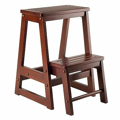 Winsome Wood Step Stool Antique Walnut , Free Shipping