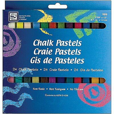 Loew-Cornell Chalk Pastels 24-Count , Free Shipping