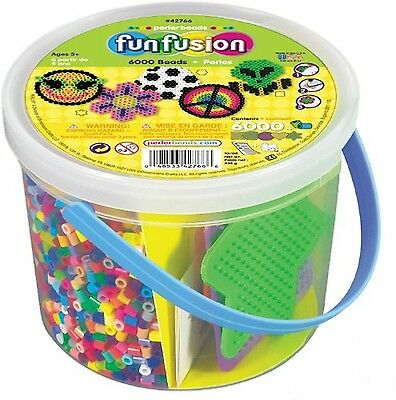 Perler Beads 6000 Count Bucket-Multi Mix , Free Shipping