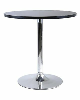 Winsome Wood 29-Inch Round Dining Table Black with Metal Leg , Free Shipping