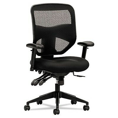 basyx by HON HVL532 Mesh High-Back 2-Way Arms Task Chair Black , Free Shipping