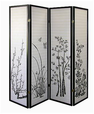 ORE International R590-4 4-Panel Room Divider Floral , Free Shipping