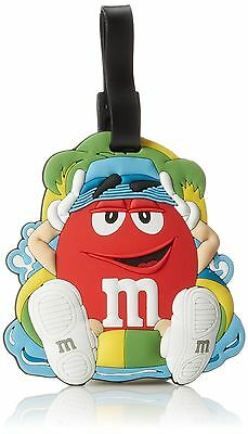 M & M Jumbo Luggage Tag Red One Size , Free Shipping