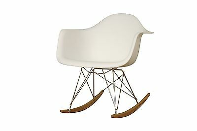 Baxton Studio Letterio White Cradle Chair , Free Shipping