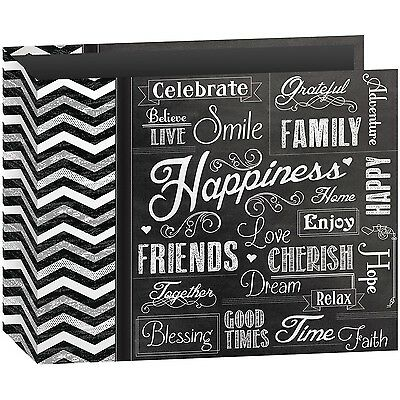 Pioneer Photo Albums T-12CHLK/H 3-Ring Printed Chalkboard Des... , Free Shipping