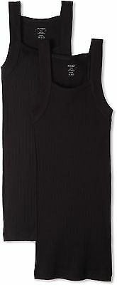 2(x)ist Men's 2 Pack Square Cut Tank Top Black Small , Free Shipping