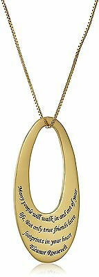 """Gold over Sterling Silver """"Many People Will Walk In and Out o... , Free Shipping"""