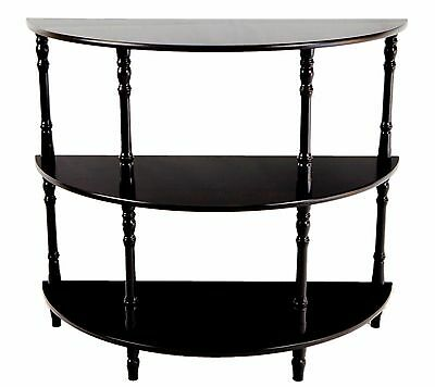 Frenchi Home Furnishing MH306 Half Moon Console Table Espresso , Free Shipping