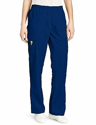 WonderWink Women's Scrubs Quebec Full Elastic Cargo Pant Navy... , Free Shipping
