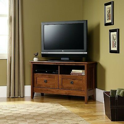 Sauder August Hill Corner Entertainment Stand Oiled Oak Finish , Free Shipping