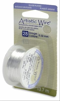 Artistic Wire 28-Gauge Tarnish Resistant Silver Wire 15-Yard , Free Shipping