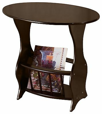 Frenchi Home Furnishing Magazine Table Cherry Brown , Free Shipping