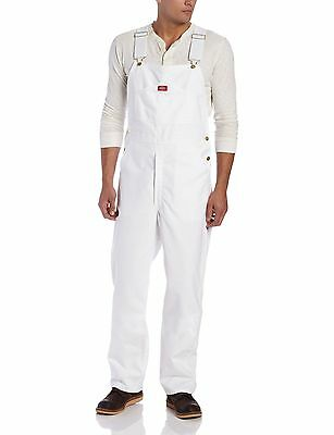 Dickies Men's Painters Bib Overall White 36W x 30L , Free Shipping
