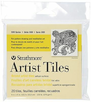 Strathmore Bristol Artist Tiles 4 by 4-Inch Vellum 20-Pack , Free Shipping