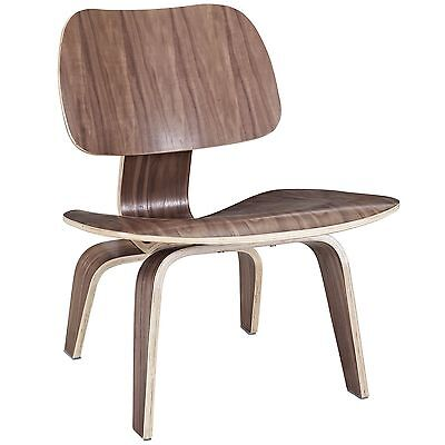 LexMod Fathom Plywood Lounge Chair in Walnut , Free Shipping