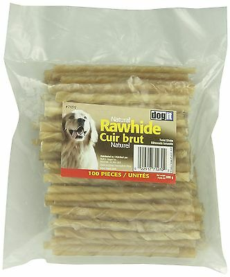 Dogit Rawhide Twisted Chew Sticks 7-8mm x 12.5cm 0.3-Inch x 5... , Free Shipping