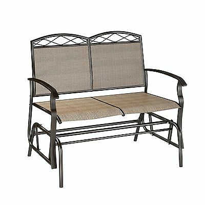 CorLiving PZT-325-G Speckled Brown Patio Double Glider , Free Shipping