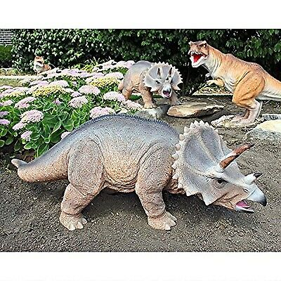 Design Toscano Scaled Jurassic Triceratops Dinosaur Statue , Free Shipping