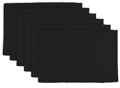 """DII 100% Cotton Ribbed 13x 19"""" Everyday Basic Placemat Set of... , Free Shipping"""