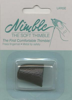 Nimble Thimble NT-L Thimbles Leather with Metal Tip-Large , Free Shipping