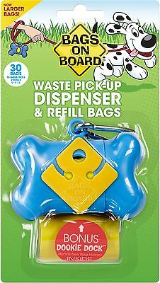 Bags on Board Bone Dispenser with 30 Refill Bags Blue , Free Shipping