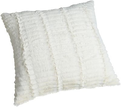 Brentwood Cut Fur Ivory Pillow 18-Inch Black , Free Shipping