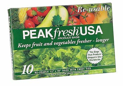 Peak Fresh Re-Usable Produce Bags Set of 10 , Free Shipping