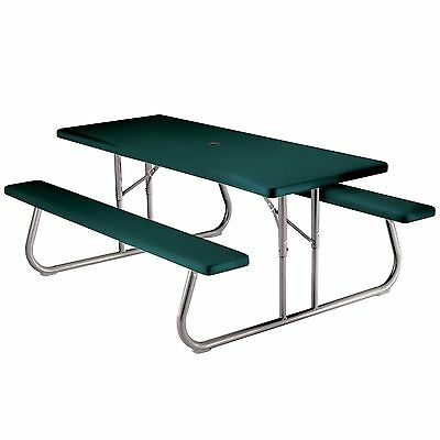 Lifetime 22123 6-Person Folding Picnic Table Hunter Green New