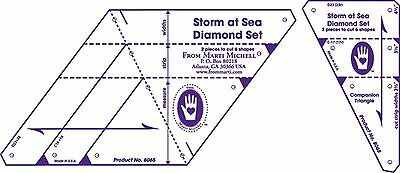 Marti Michell Diamond Template Set Storm at Sea 2-Pack New