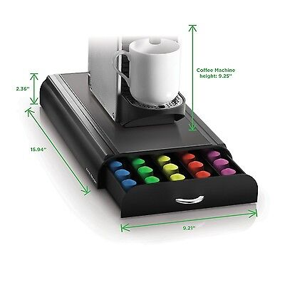 """Mind Reader """"Anchor""""Coffee Pod Storage Drawer for 50 Nespresso Capsules B... New"""