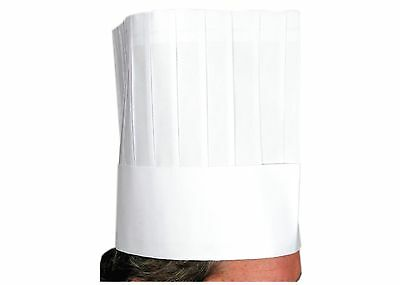 Winco Disposable Chef's Hat 9-Inch Pack of 10 Medium White New