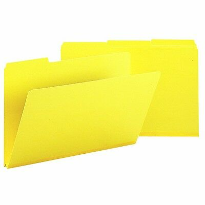 Smead Expanding Pressboard Folders 1/3 Cut Tab Legal Yellow 25 Per Box (2... New