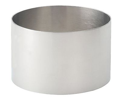 HIC Seamless Food Ring Stainless Steel 3.5-Inch 3-1/2-Inch New