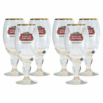 Stella Artois 6-Pack Chalice Glass Set 33cl New