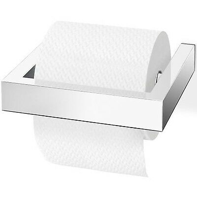 ZACK 40031E Linea Wall Mounted Toilet Roll Holder 6.3 by 5.9-Inch High Gl... New