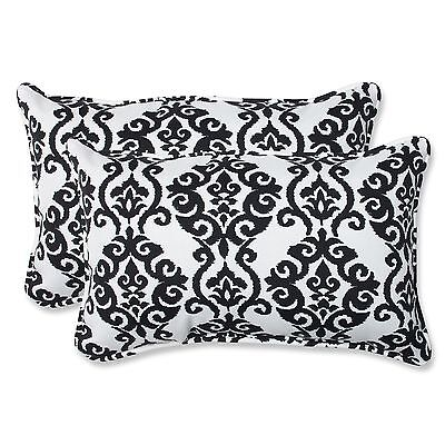 Pillow Perfect Outdoor Luminary Licorice Rectangular Throw Pillow Set of 2 New