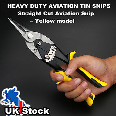 Heavy Duty Aviation Straight Tin Snips Sheet Metal Cutters Shears Tinsnips