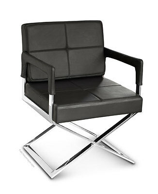 High-quality Dining room Lounge Cocktail Chair with armrest. leather