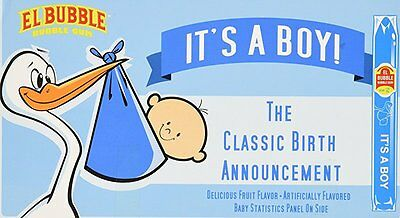 It's a BOY Classic Birth Announcement Bubble Gum Cigar (Pack of 36)