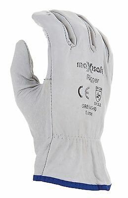 (12 Pack) Large Leather Riggers Glove, Garden Glove, Riggers Glove, Landscaping