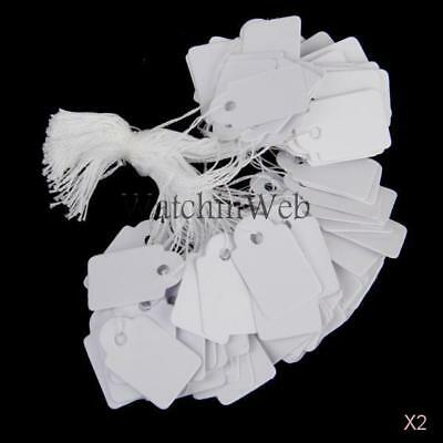 1000 Watch Jewelry Display String Strung Paper Price Tags Dress Colth Label