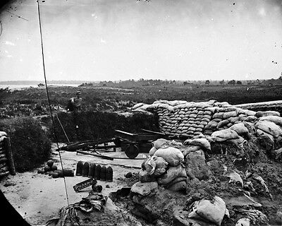 New 11x14 Civil War Photo: Confederate Battery JEFF DAVIS at Yorktown, Virginia