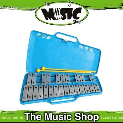 New Mano Percussion AX25S Chromatic Glockenspiel with Case & Beaters - G4-G6