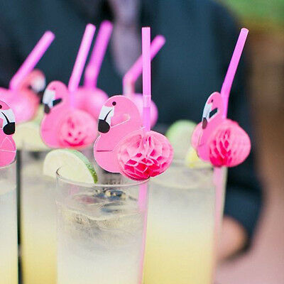Flamingos Strohhalme Rosa Trinkhalme Cocktail Party Bar Strohhalm Drink Stroh SE